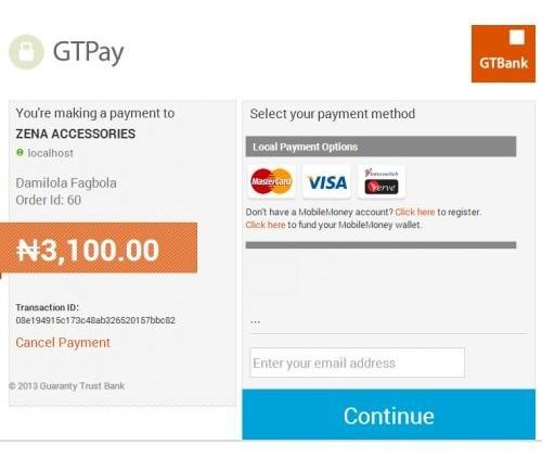 GTPay Payment Interface